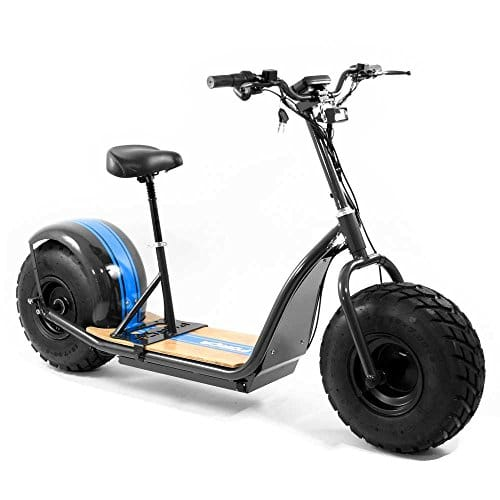 forca knumo 39 offroad 39 pro sxx 60v 1500w fat wheel e scooter black blue dein. Black Bedroom Furniture Sets. Home Design Ideas