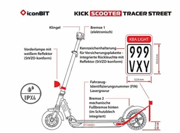 Iconbit IK-1972K Scooter, Schwarz - 5