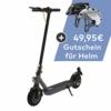 TREKSTOR e.Gear EG3178 E-Scooter mit Straßenzulassung (eKFV), 350 W Motor, 270 Wh Batterie, 25 km Reichweite, 8,5 Zoll Reifen, Stoßgedämpft, Scheibenbremse, nur 14,5kg, 120kg Tragkraft, Klappbar - 1